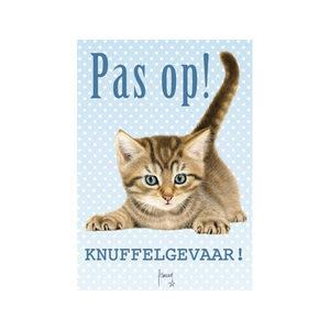 Plenty Gifts Waakbord Franciens Katten Pas Op Knuffelgevaar